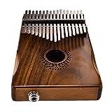 17 touches EQ kalimba solide Acacia Thumb Piano Link haut-parleur électrique Pick-up avec Oshide de câble de sac