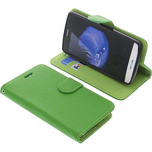 foto-kontor Tasche für TP-Link Neffos C5L Book Style grün Schutz Hülle Buch