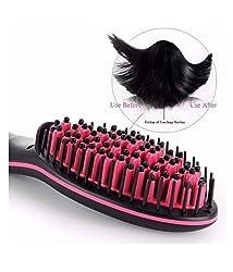 RB Straight Artifact Ceramic Electronic Hair Straightening Brush Machine