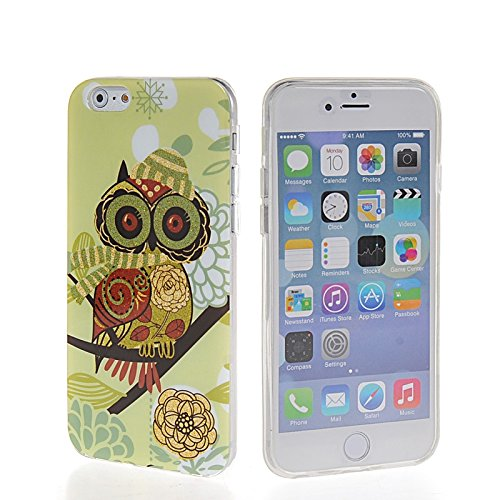 MOONCASE Cute Owl Design TPU Silicone Housse Coque Etui Gel Case Cover Pour Apple iPhone 6 Plus A01