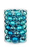 Inge-glas 15106E460MO Kugelsortiment 60 Stück/Vorteilsdose ,18x4 / 20x5 / 16x6 / 6x7 cm Dazzling Club-Mix(türkis,petrol,wintergrün)