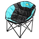 KING DO WAY Deluxe Large Moon Folding Chair for Camping Hiking Outdoor Indoor Activie Blue