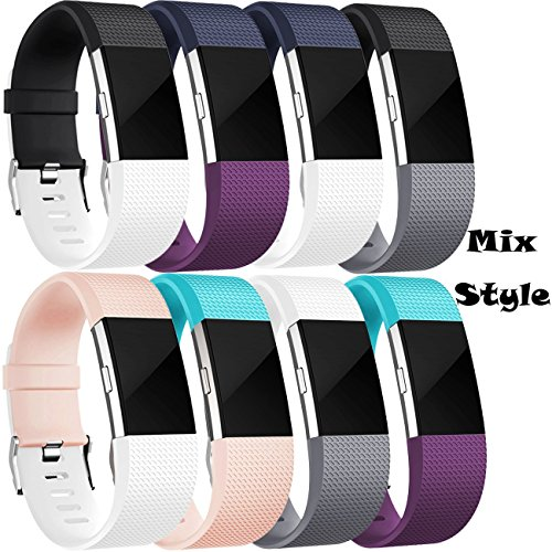 AdePoy Fitbit Charge 2 Armband, Charge 2 Armband Weiches Silikon Sports Ersetzerband für Fitbit Charge2
