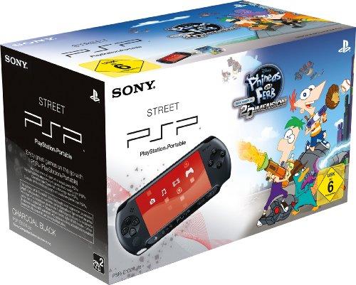 PlayStation Portable - Konsole E1004, schwarz mit Phineas & Ferb: Quer duch die 2. Dimension