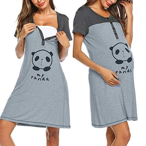 Donna prémaman carina camicia da notte gravidanza allattamento