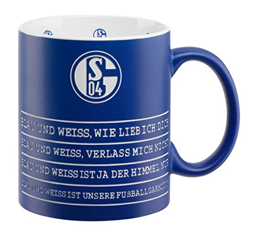 FC Schalke 04 Hymne Tasse Mug Kaffeebecher (blau/weiß) Blau Weiß Mugs
