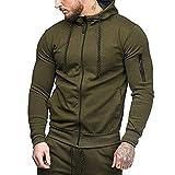 serliyHerren Basic Zip Hoody Kapuzenpullover Einfarbiger Basic Sweatshirtjacke und Kapuzenjacke Zip-Hoodie Sweatjacke