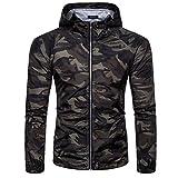 MCYs Veste Vêtements de Protection Solaire Hommes Militaire Camouflage Zipper...