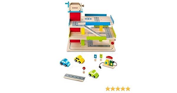 Turnschuhe 100% echt Online-Shop TCM Tchibo Holz Parkhaus inkl.Zubehör: Amazon.de: Spielzeug