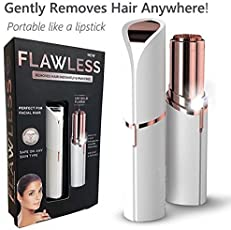 Finiviva Flawless Epilator Wax Finishing Touch Flawless Hair Remover Razor Women Body Face Electric Hair Removal Painless Lipstick Shaving Tool