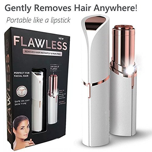 Rhythm\'s Store Lipstick Shape Painless Electronic Facial Hair Remover Shaver For Women (Battery Included)