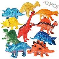 OCMCMO 41 Pcs de Juguete Educativo de Dinosaurios, Juego de Dinosaurios, Mundo Jurásico, Dinosaurio de Plástico para Niños DE 3 a 6 Años