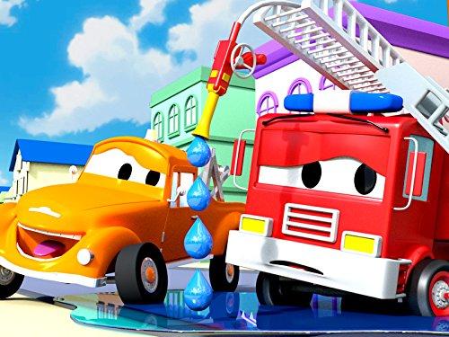 Feuerwehrauto und Tom der Abschleppwagen