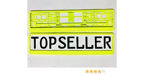 Eu Kennzeichenhalter 520 X 110 Mm Farbe Neon Gelb Universal Pkw Nummernschildhalter Auto