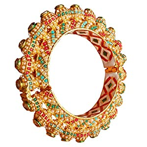 J S Jewel Fashioners Gold Plated Brass Bangle For Women