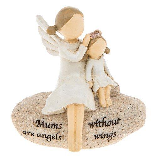 Mütter sind Engel, sentimentale Kieselstein-Geschenk. -
