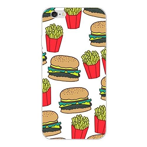 iPhone 6 6S PLUS Handyhülle Schutzhülle Hülle Silikon Cover Case 5.5 Ultradünn Ultra Slim TPU Fast Food