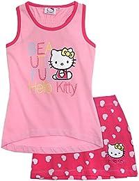 Hello Kitty Fille Débardeur avec jupe - fushia