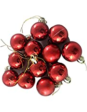 VMP Christmas Red Ball Ornaments Tree Decorations for Holiday Party Decoration, Christmas Decorations for Home/House Pack of 12