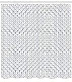 Abakuhaus Duschvorhang, Simplistischer Minimalistische Anker Zeichen Meer Nautik Thematisier SchwarzWeiß Silberner Druck, Wasser und Blickdicht aus Stoff mit 12 Ringen Schimmel Resistent, 175 X 200 cm