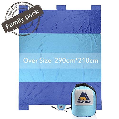 PolarBear Picknickdecke Campingdecke Strandmatte 290cm X 210cm Sand Resistant Reiseunterlage RoyalBlue-Blue