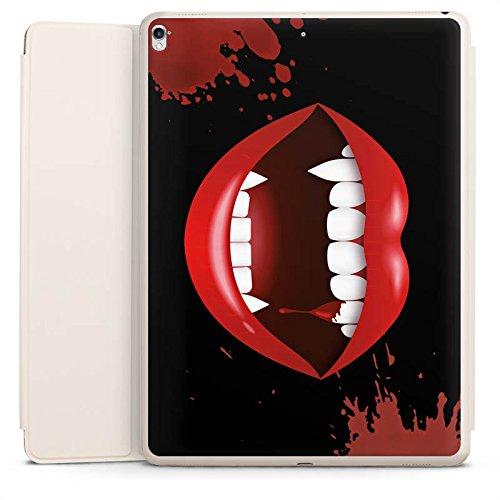 DeinDesign Smart Case Sand kompatibel mit Apple iPad Pro 12.9 (2017) Hülle mit Ständer Schutzhülle Vampir Halloween Lippen
