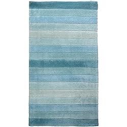 Home Life Alfombras Rayas Degrade, Polipropileno, Azul, 60 x 110 cm
