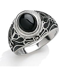 Jewelco Europa Hombre Plata de ley blanco Signet Moda anillo