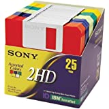 Sony 2HD 3.5 IBM Formatted Floppy Disks 25-Pack Discontinued by Manufacturer
