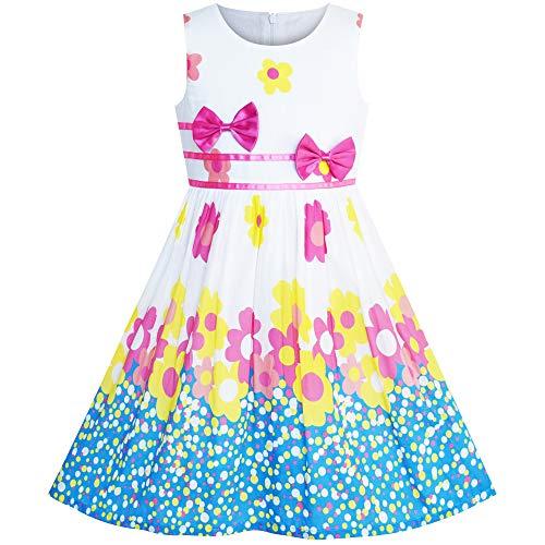 Sunboree Mädchen Kleid Blume Lila Krawatte Sommer Trägerkleid Gr. 140 - Niedliche Kleine Mädchen Kostüme Für Halloween
