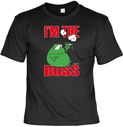cooles witziges Damen HerrenT-Shirt Farbe schwarz Motiv Boss lustiger Spruch ideales Geschenk Geburtstag lässiges Outfit Schwarz