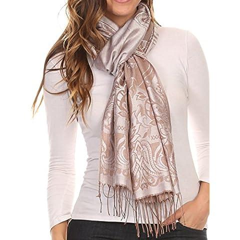 Sakkas Kendall Lunga Extra largo Floral Paisley modellato Pashmina Scialle / sciarpa