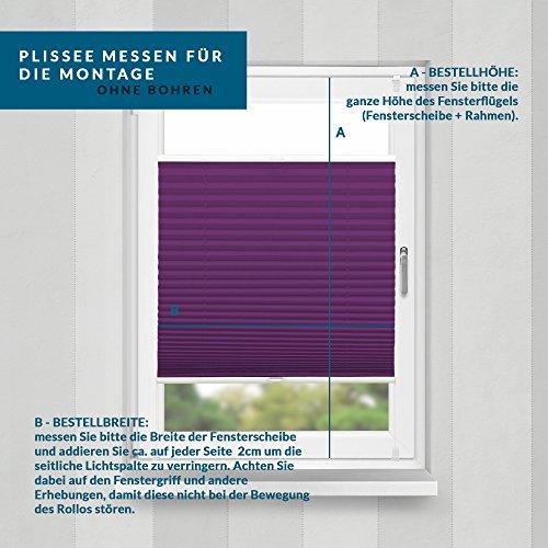 Plissee Violett HOME-VISION - 6