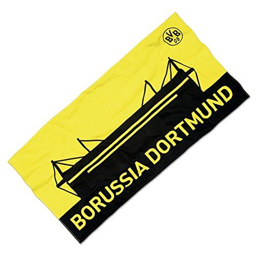 """Strandtuch Stadionmotiv Borussia Dortmund BVB 09 + gratis Sticker """"Dortmund forever"""", Handtuch, Duschtuch, Badetuch, beach towel, toalla de playa, serviette de plage"""