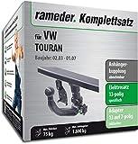 Rameder Komplettsatz, Anhängerkupplung abnehmbar + 13pol Elektrik für VW TOURAN (143394-04954-1)