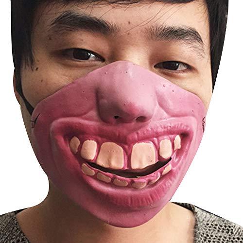 Half Face Horrible Mask, Halbe Gesichtsmaske Horrible Tricks Festival Celebrations Fancy Dress ()