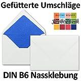 Neuser buste con interno colorato B6176x 125mm, gommate | rivestimento colorato| 50 Umschläge 18-Royalblau