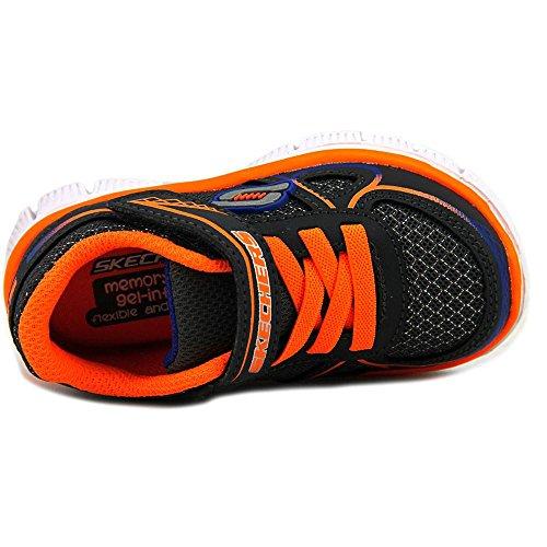 Skechers Flex Advantage-Mini Race Maschenweite Tennisschuh Charcoal/Orange