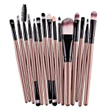 oshide 15 Stück Professionelle Makeup Bürsten Kosmetik Set Foundation Powder Lidschatten Augenbraue Eyeliner Lippen Make-up Pinsel Auge Gesicht Pinsel Set
