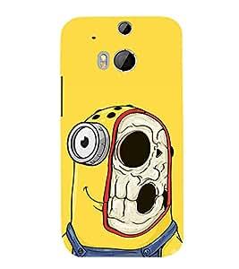 Vizagbeats Minion half skull Back Case Cover for HTC One M8::HTC M8