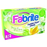 100 Fabrite Tumble Dry Sheets Jasmine 2 packs of 50 by FABRITE