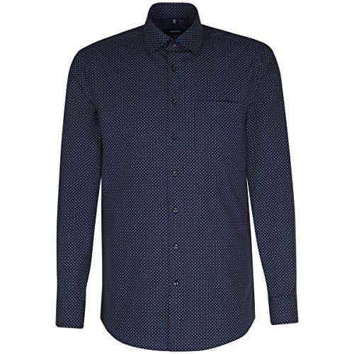 Michaelax-Fashion-Trade Camicia Classiche - Basic - Classico - Maniche Lunghe - Uomo Dunkelblau(18)