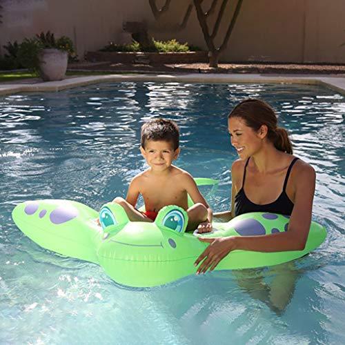 ToDIDAF Schwimmbad schwimmt für Kinder Schwimmbadzubehör Cartoon-Schwimmring Wasser aufblasbares Spielzeug Schwimmendes Bett für die Sommerferien Pool-Party Reise (Schlittschuh) (Grün)