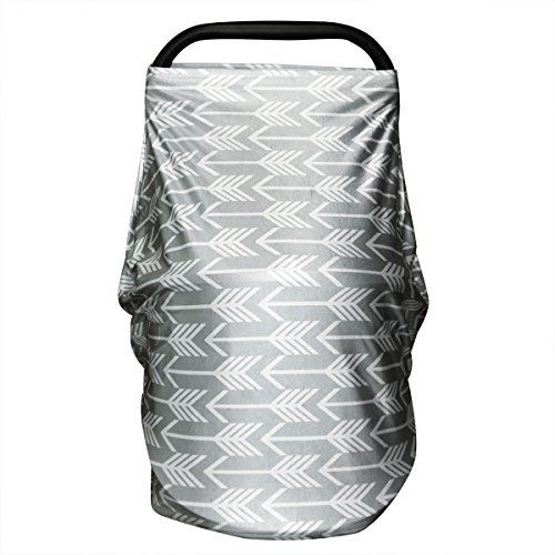 Nursing Breastfeeding Cover - Universal Baby Car Seat Canopy for Boys Girls - Best Multi Use Swaddle Blanket for Infants Newborns Toddlers Shower Gift by YOOFOSS