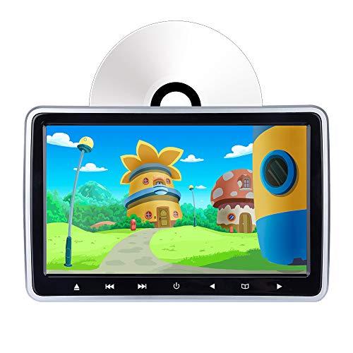 Lecteur DVD de Voiture pour Appui-tête, écran de contrôle 10,1', Lecteur de DVD à Chargement Automatique, entrée HDMI, entrée/Sortie AV, écran de synchronisation, Zone sans région, USB/SD