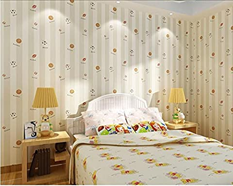 Blue nonwoven wallpaper warm children's cartoon wallpapers on bedroom walls