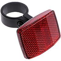Lergo - Reflector Reflectante para Manillar de Bicicleta, luz Trasera de Advertencia, Rojo