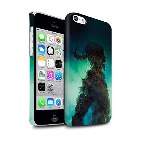 Offiziell Chris Cold Hülle / Matte Snap-On Case für Apple iPhone 5C / Kriegsheld/Warlock Muster / Dämonisches Tier Kollektion Gehörnter Dämon