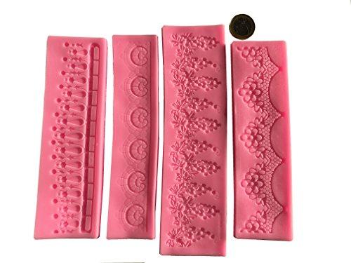 Torten-Rand-Fondant-Silikon-Ausstecher-Set-Verzierung-Torten-Bordre-Muster-Blumen-Geburtstag-Cupcakes-Muster-Form-Blten-Fondant-Ausstechform-Deko-Marzipan-Zuckerguss-Form-von-ROYAL-HOUSEWARE