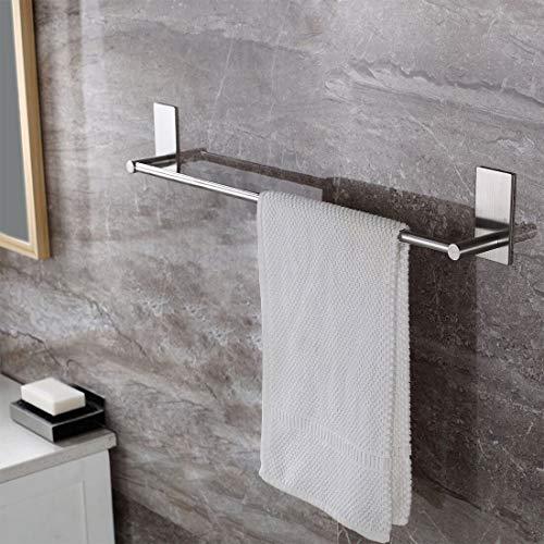 Ruicer Handtuchstange Handtuchhalter Ohne Bohren aus Gebürstetem Edelstahl, 70CM